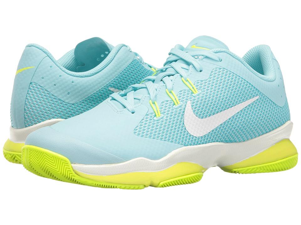 Nike - Air Zoom Ultra (Still Blue/White/Polarized Blue/Volt) Women's Tennis Shoes