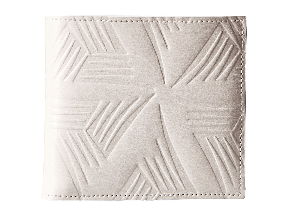 MARNI - Flower Embossed Leather Bifold (White) Wallet Handbags
