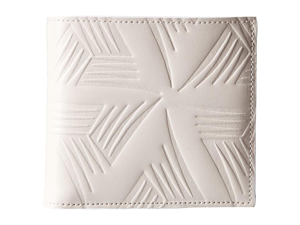 MARNI - Flower Embossed Leather Bifold (White) Wallet Handbags