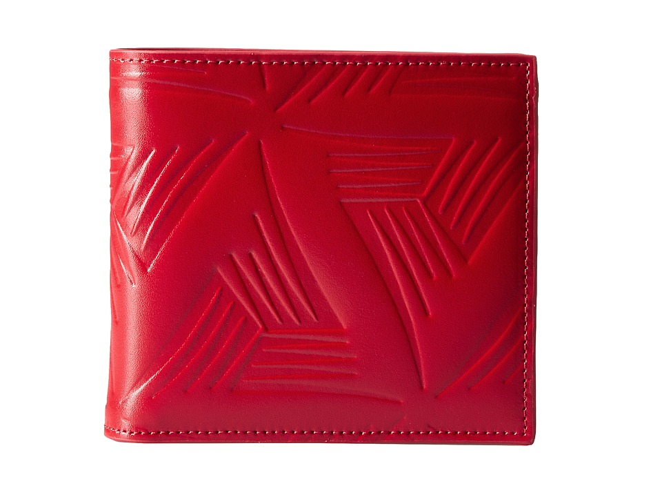 MARNI - Flower Embossed Leather Bifold (Red) Wallet Handbags