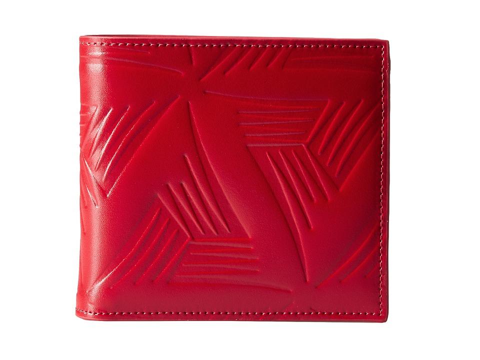 MARNI - Flower Embossed Leather Bifold (Red) Wallet Handbags