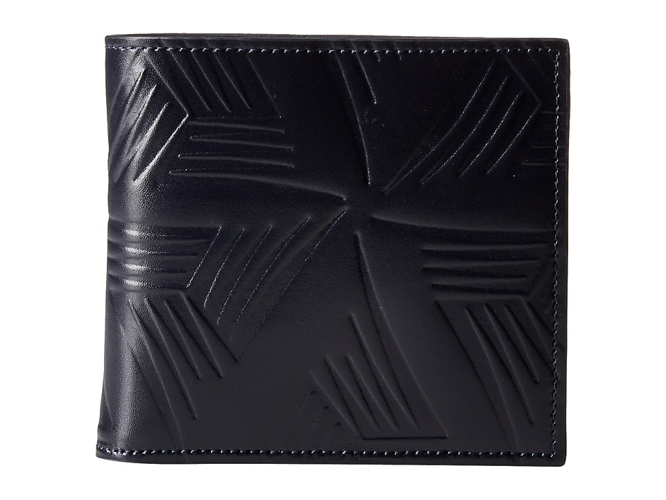 MARNI - Flower Embossed Leather Bifold (Navy) Wallet Handbags