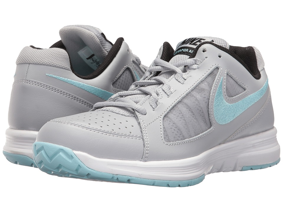 Nike - Air Vapor Ace (Wolf Grey/Still Blue/White/Black) Women's Tennis Shoes
