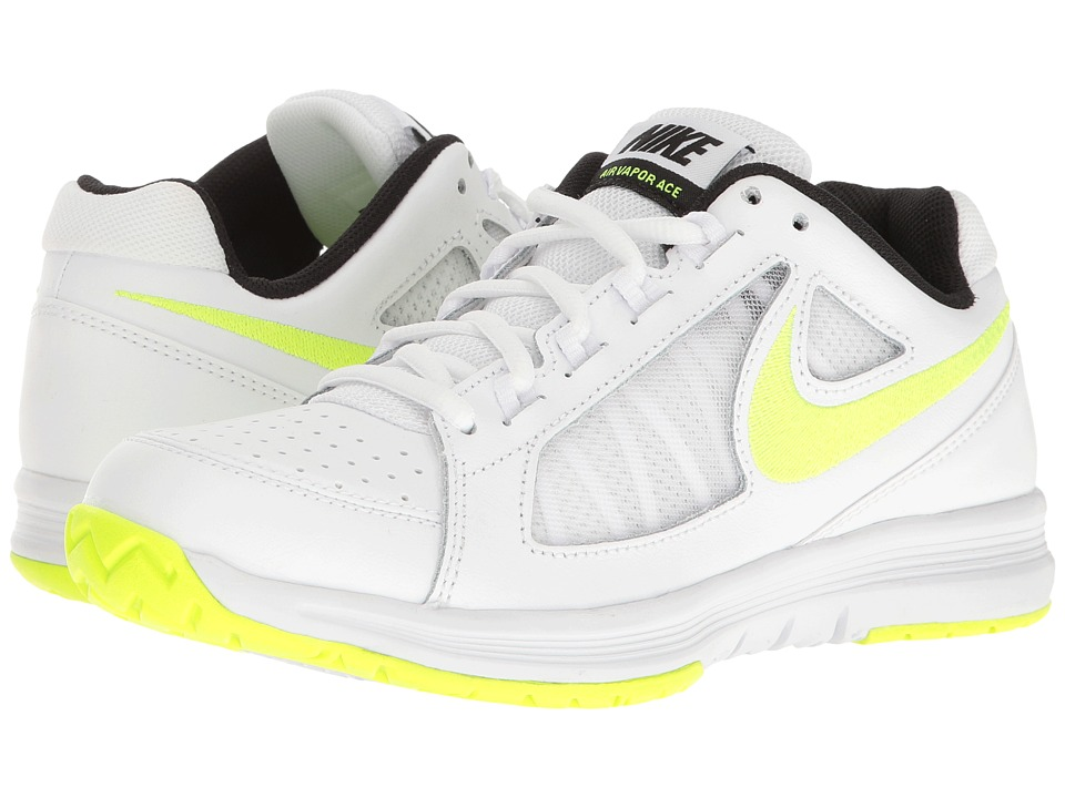 Nike - Air Vapor Ace (White/Volt/Black) Women's Tennis Shoes