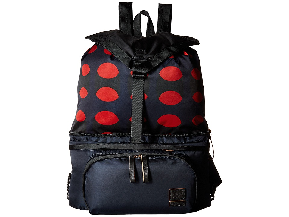 MARNI - Printed Nylon Backpack (Dark Blue) Backpack Bags