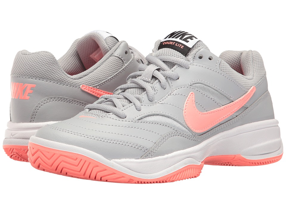 Nike - Court Lite (Wolf Grey/Lava Glow/Black) Women's Tennis Shoes