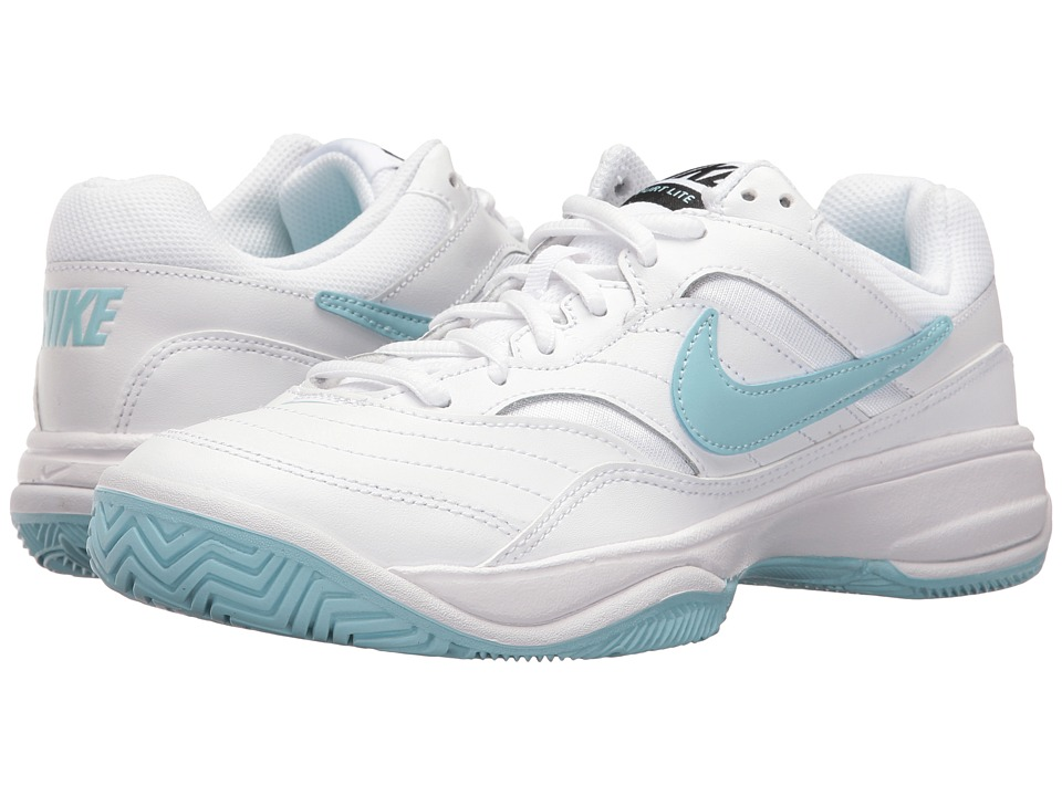 Nike - Court Lite (White/Still Blue/Black) Women's Tennis Shoes