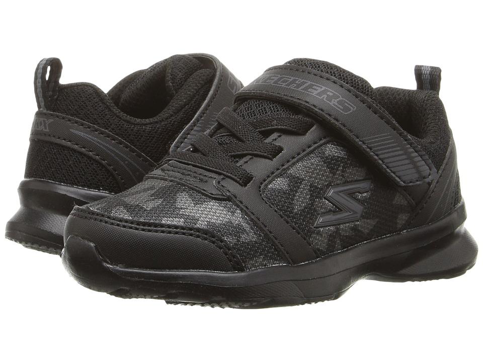 SKECHERS KIDS - Skech Steps (Toddler/Little Kid) (Black/Charcoal) Boy's Shoes