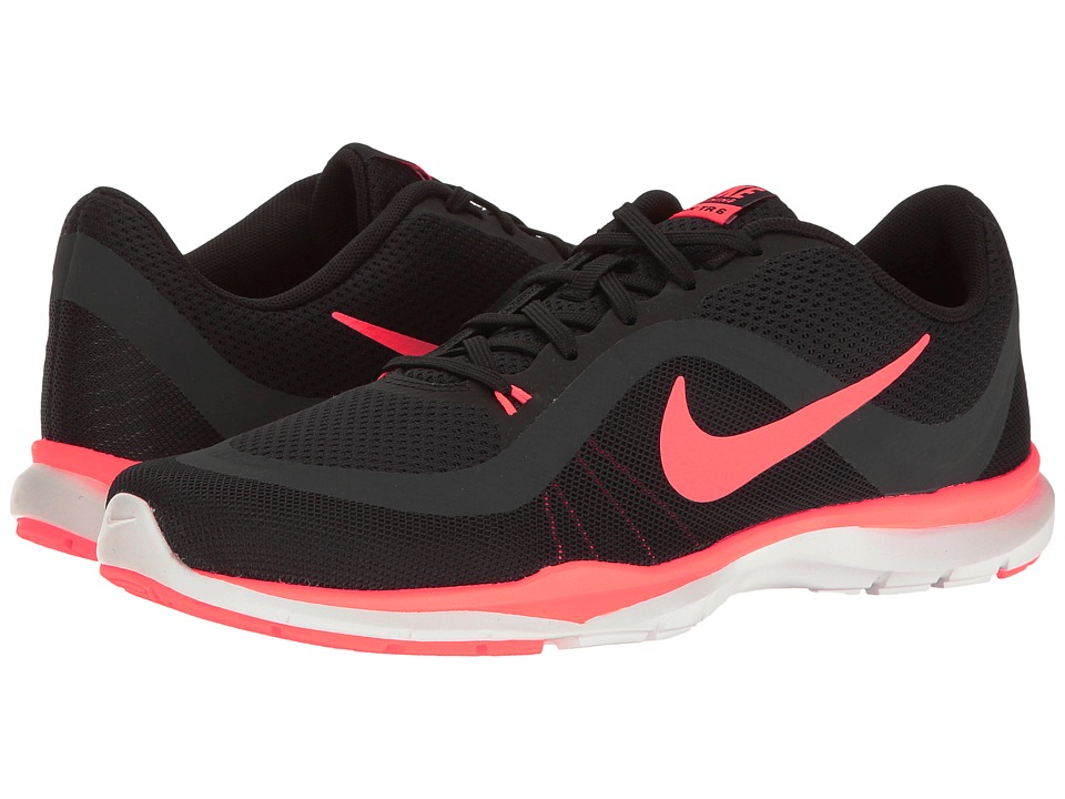 Nike - Flex Trainer 6 (Black/Lava Glow/Anthracite) Women's Cross Training Shoes