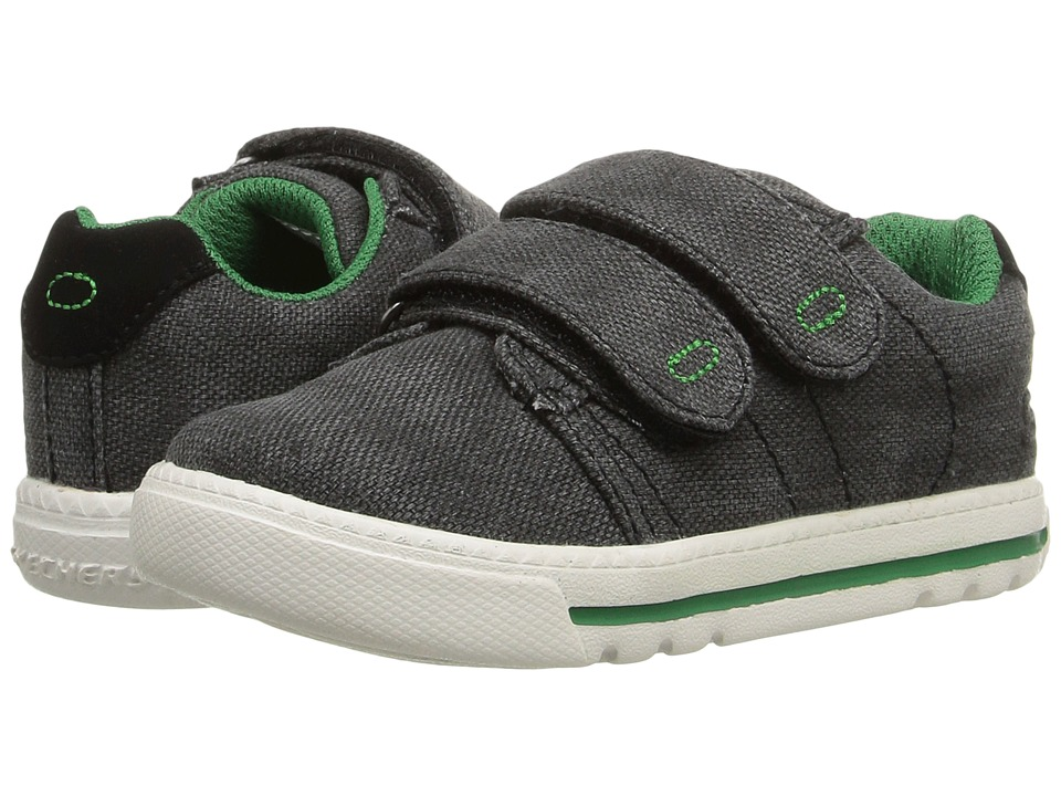 SKECHERS KIDS - Lil Lad Swagy (Toddler/Little Kid) (Black/Green) Boy's Shoes