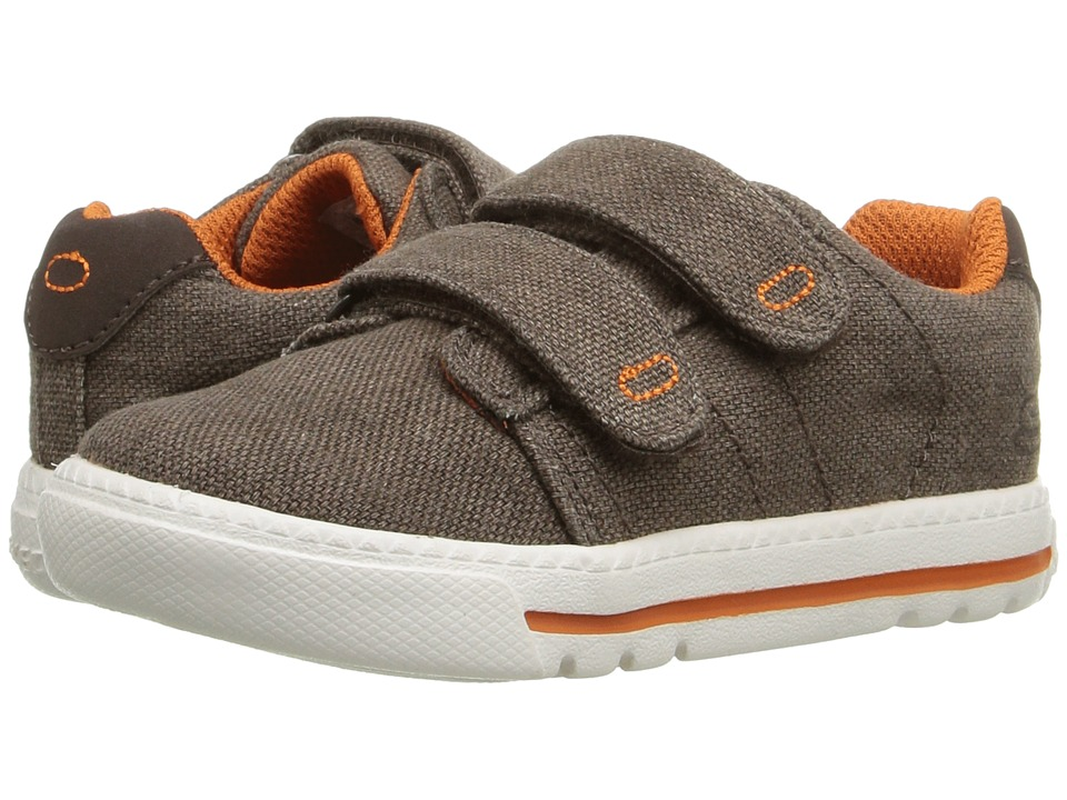 SKECHERS KIDS - Lil Lad Swagy (Toddler/Little Kid) (Charcoal/Orange) Boy's Shoes