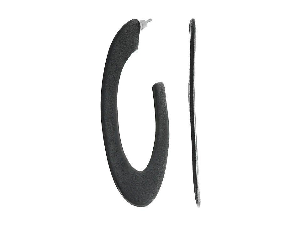 Alexis Bittar - Matte Hoop Earrings (Black) Earring