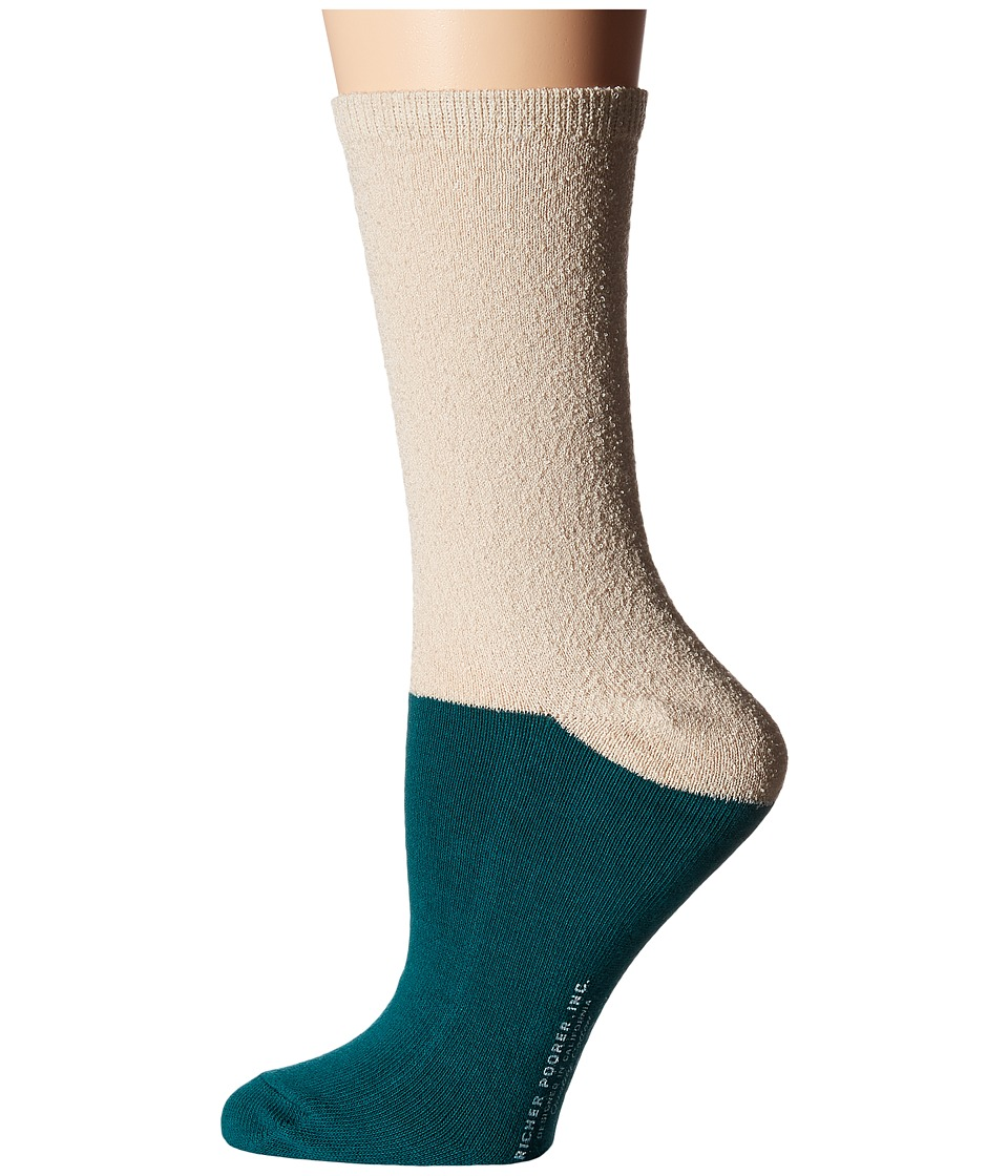 Richer Poorer - Marine (Oatmeal/Green) Women's Crew Cut Socks Shoes
