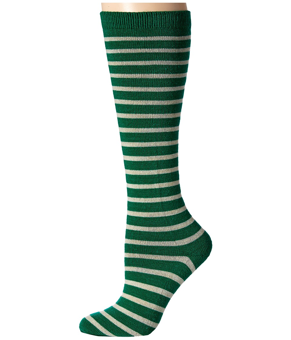 Richer Poorer - Nora Knee High Wool (Green/Oatmeal) Women's Knee High Socks Shoes