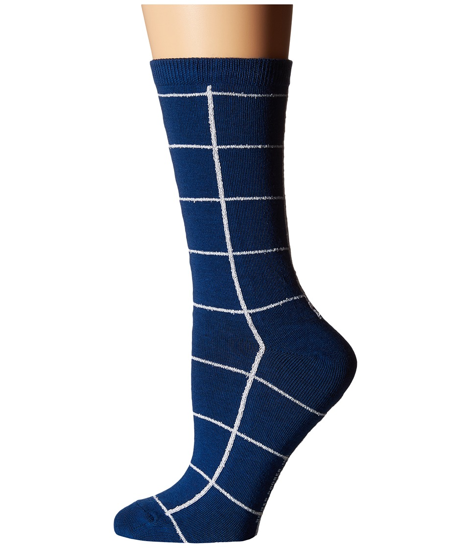 Richer Poorer - Lattitude (Blue) Women's Crew Cut Socks Shoes