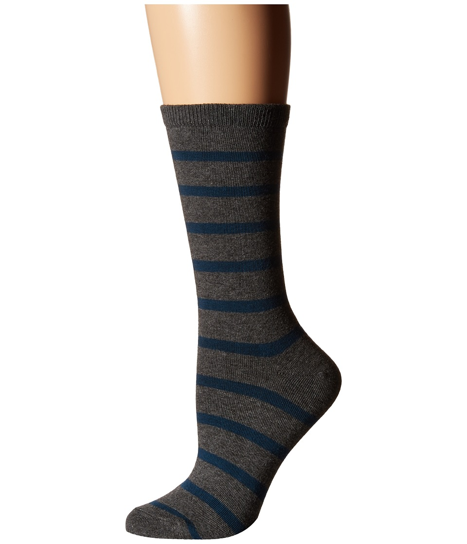 Richer Poorer - Nora (Charcoal/Teal) Women's Crew Cut Socks Shoes