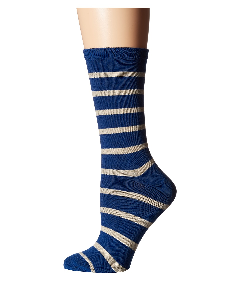 Richer Poorer - Nora (Blue/Oatmeal) Women's Crew Cut Socks Shoes