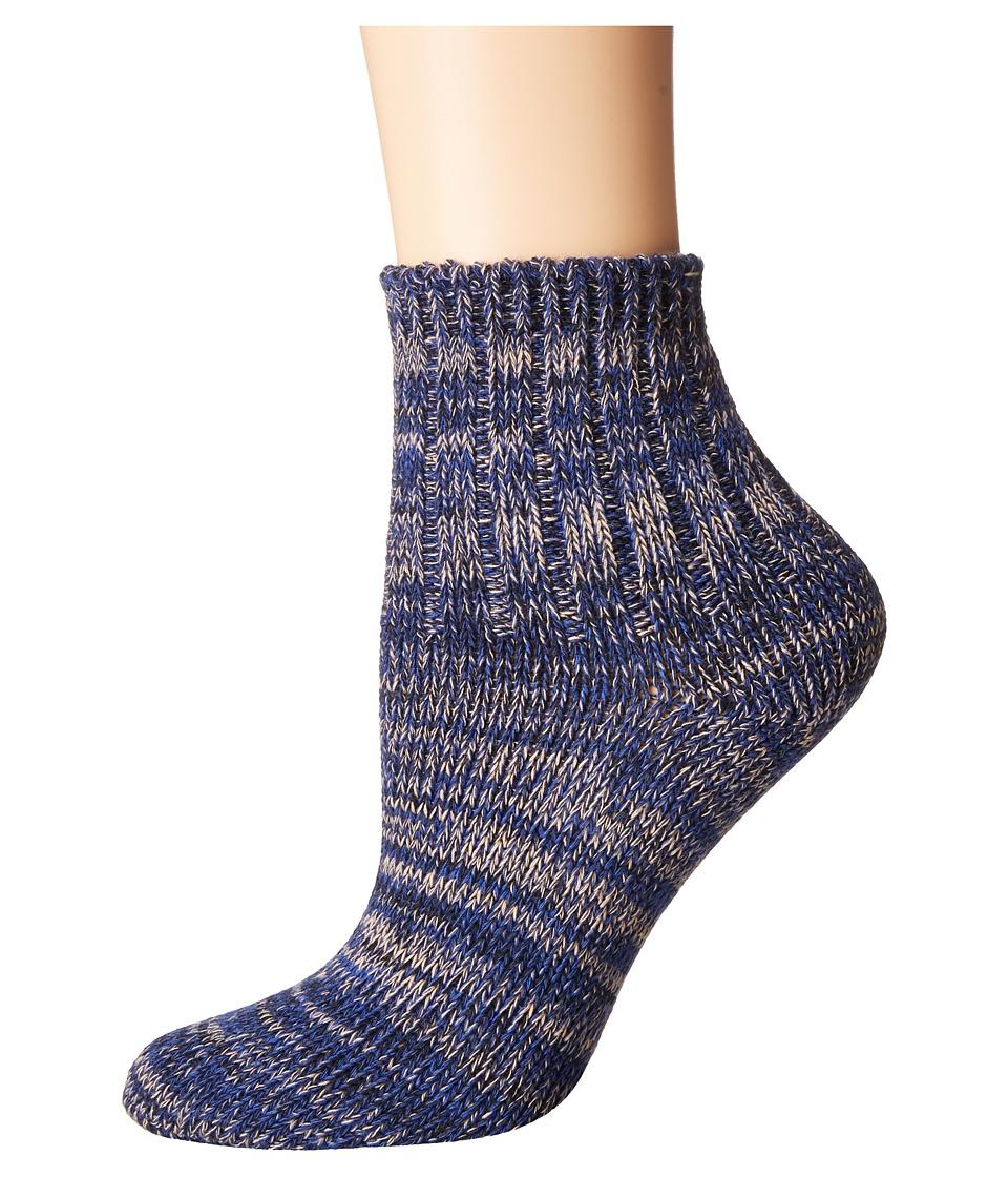 Richer Poorer - Dune Ankle (Navy) Women's Crew Cut Socks Shoes