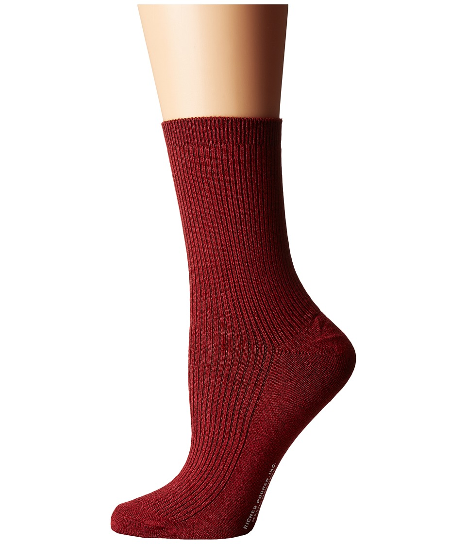 Richer Poorer - Nightingale (Red) Women's Crew Cut Socks Shoes