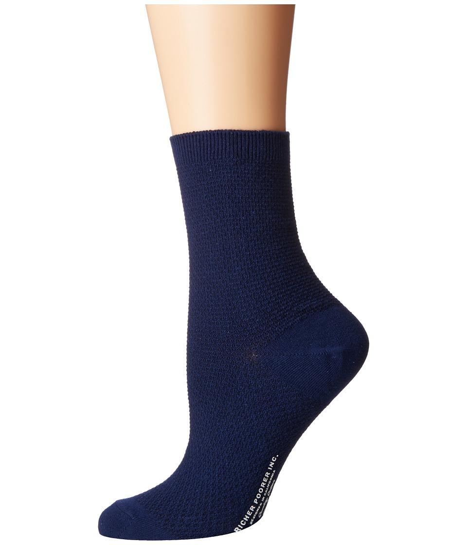 Richer Poorer - Yucca (Navy) Women's Crew Cut Socks Shoes