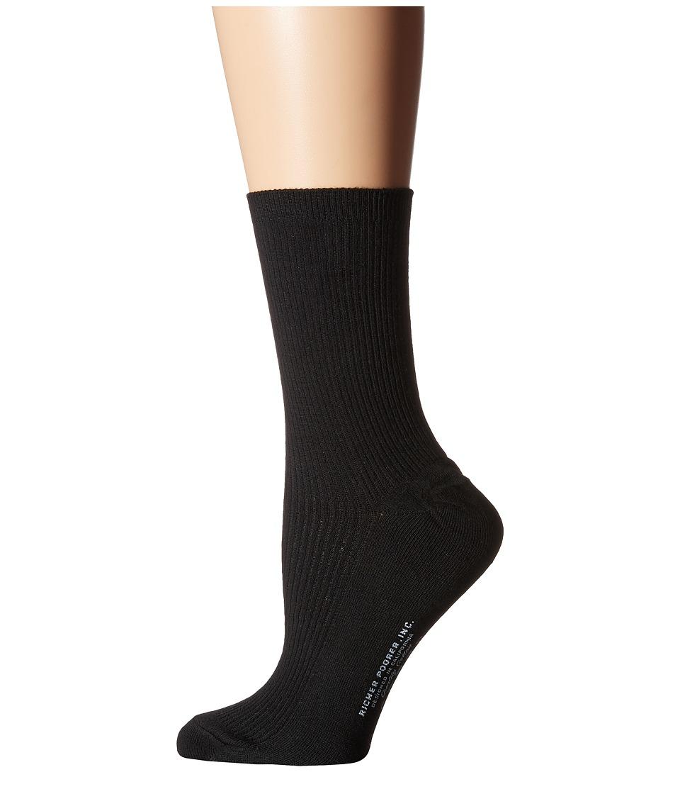 Richer Poorer - Nightingale (Black) Women's Crew Cut Socks Shoes