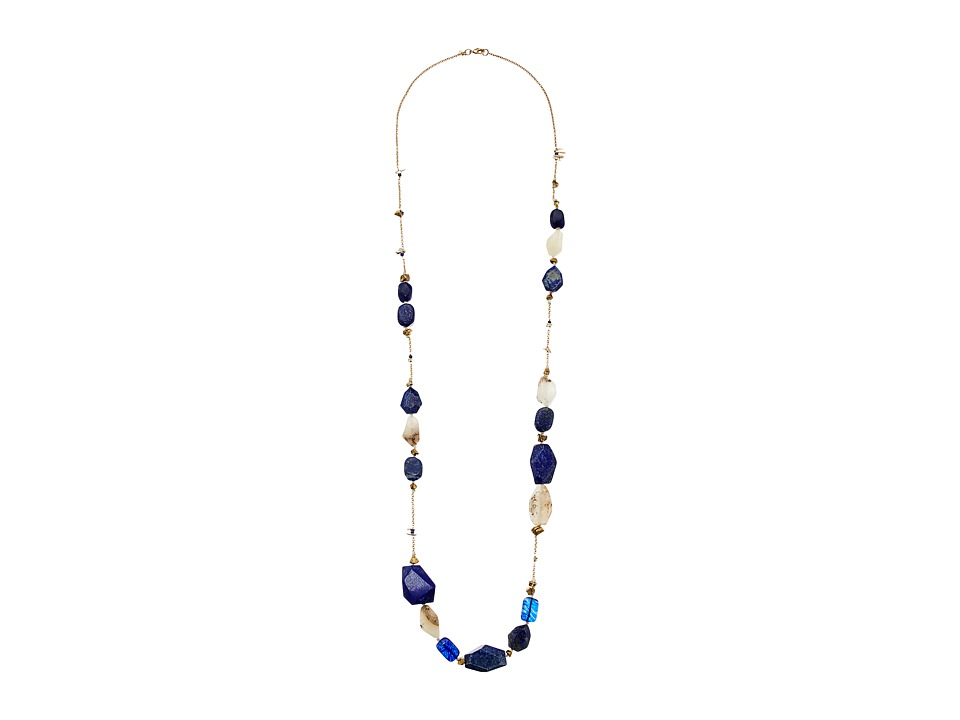 Alexis Bittar - Beaded Station with Tone Nuggets Necklace (Gold) Necklace