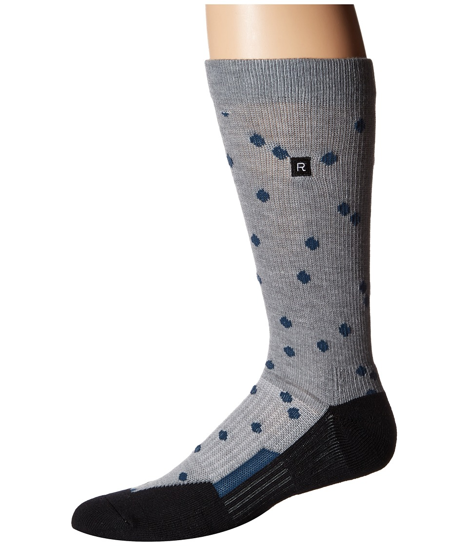 Richer Poorer - Emery Athletic (Heather Grey) Men's Crew Cut Socks Shoes