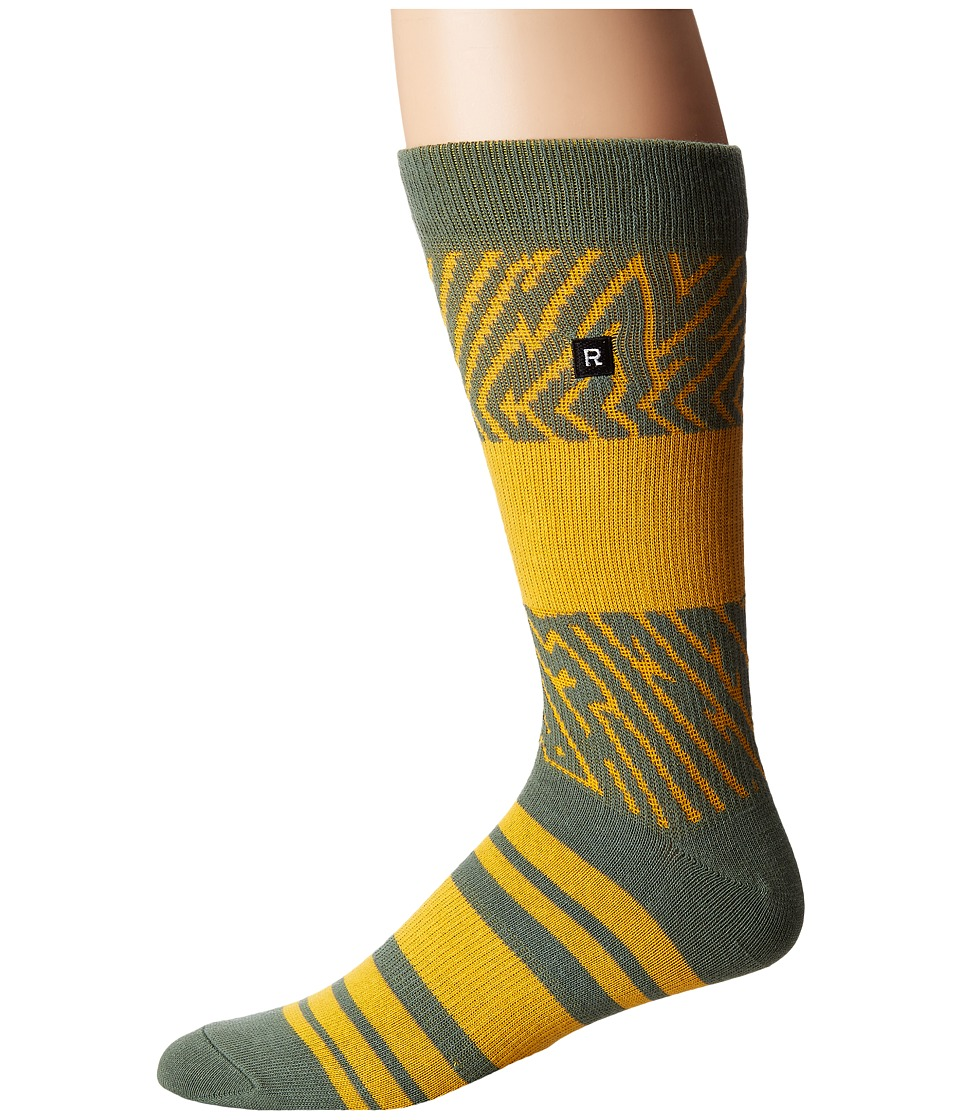 Richer Poorer - Foliage Athletic (Olive) Men's Crew Cut Socks Shoes