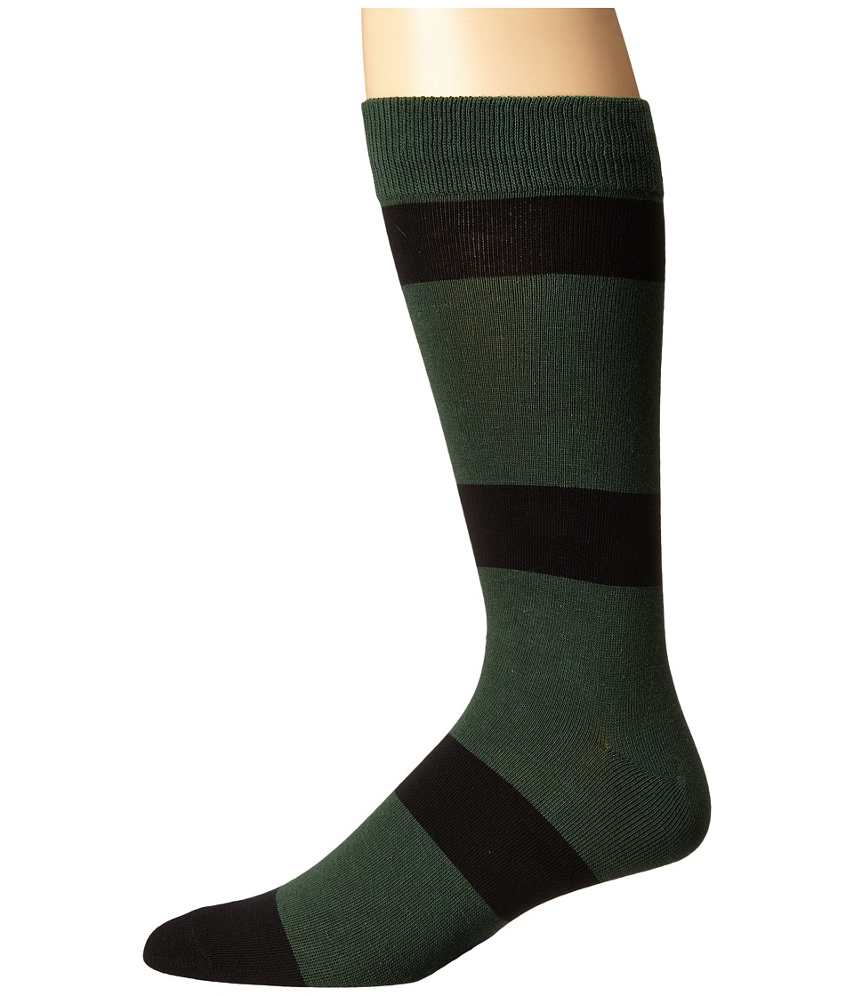 Richer Poorer - London (Green/Black) Men's Crew Cut Socks Shoes