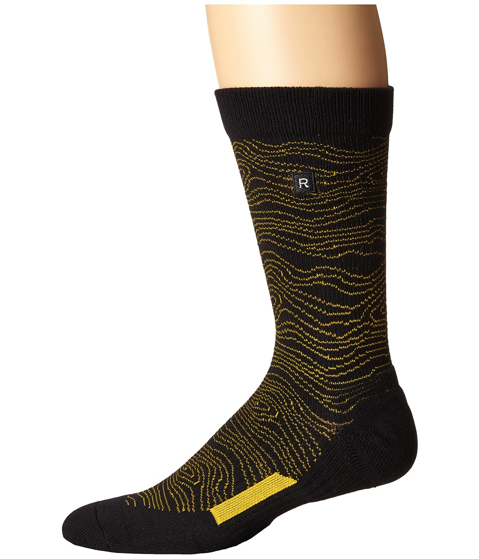 Richer Poorer - Onlooker Athletic (Black) Men's Crew Cut Socks Shoes