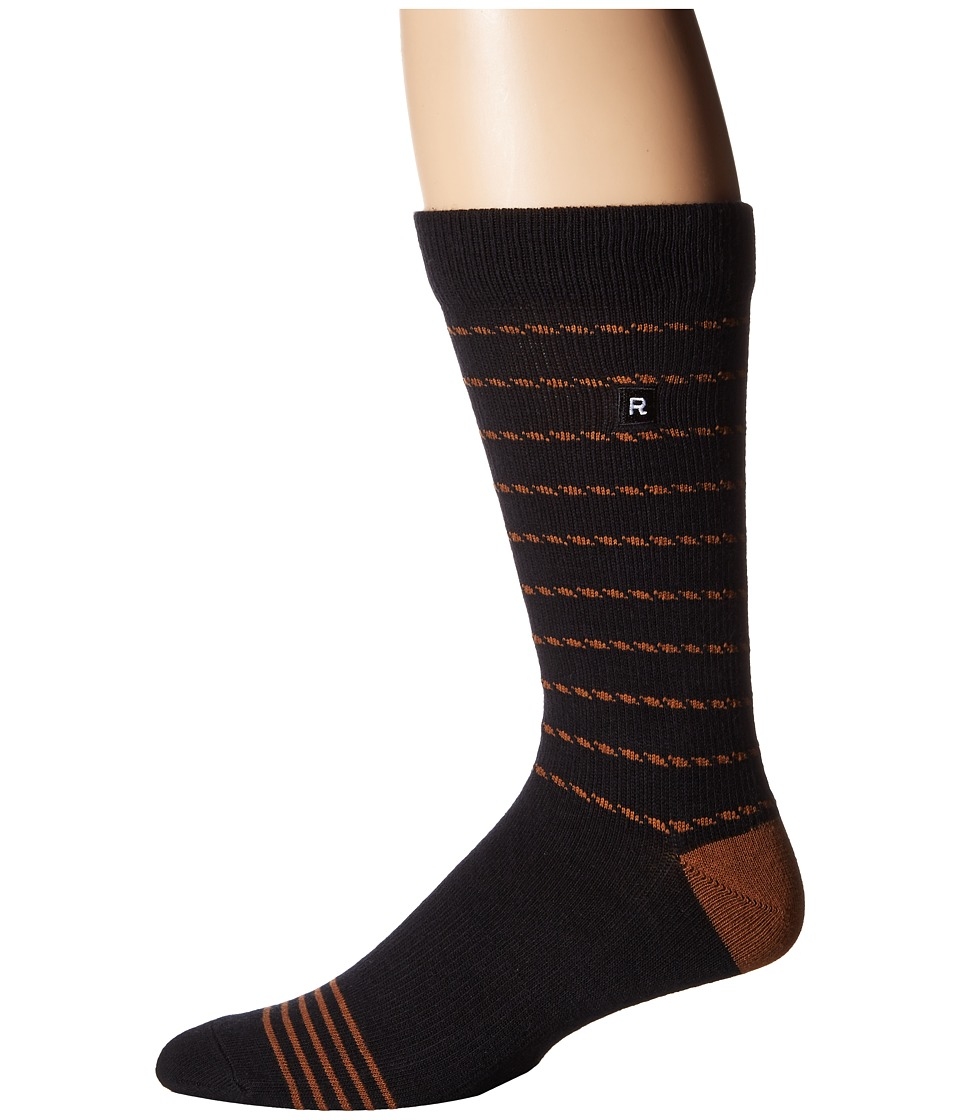 Richer Poorer - Portside Athletic (Black) Men's Crew Cut Socks Shoes