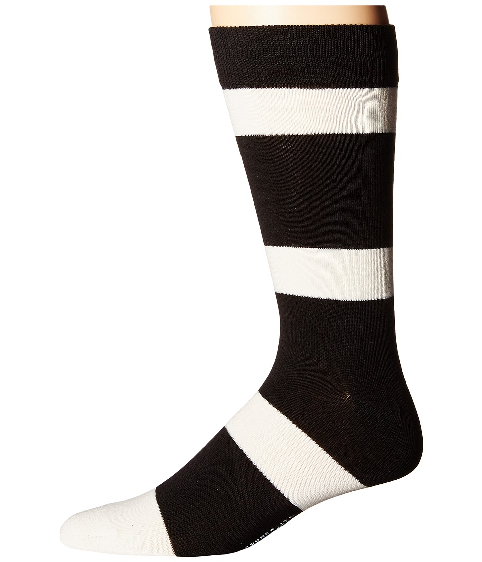 Richer Poorer - London (Black/Cream) Men's Crew Cut Socks Shoes