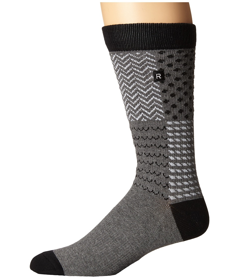 Richer Poorer - Outrigger Athletic (Charcoal) Men's Crew Cut Socks Shoes
