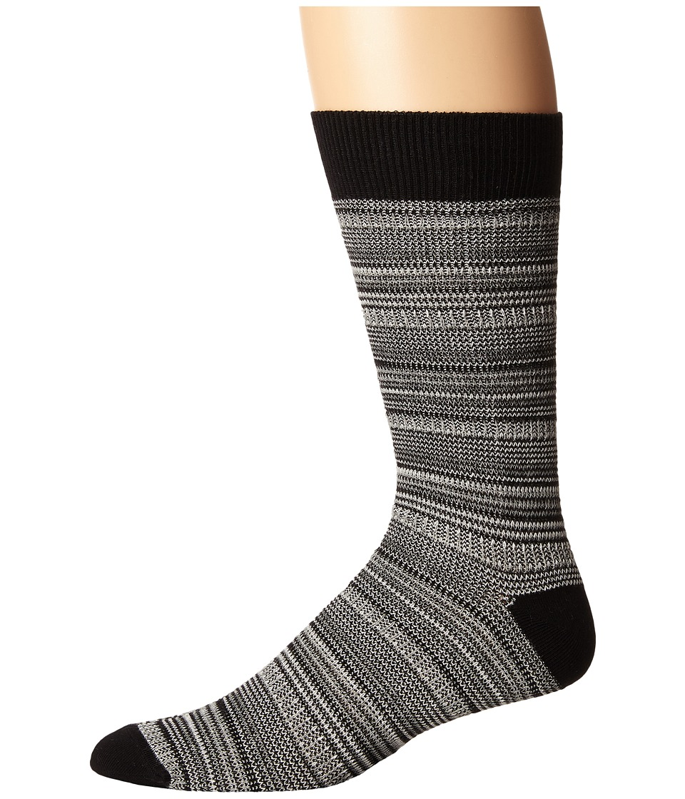 Richer Poorer - Mizzen (Black) Men's Crew Cut Socks Shoes