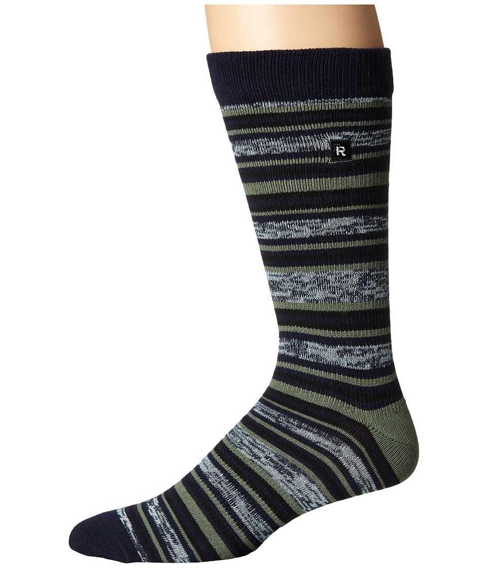 Richer Poorer - Morse Athletic (Navy) Men's Crew Cut Socks Shoes