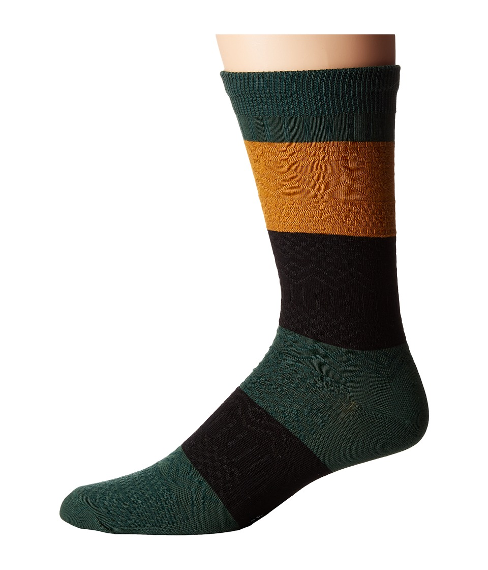 Richer Poorer - Gilgamesh (Green Multi) Men's Crew Cut Socks Shoes