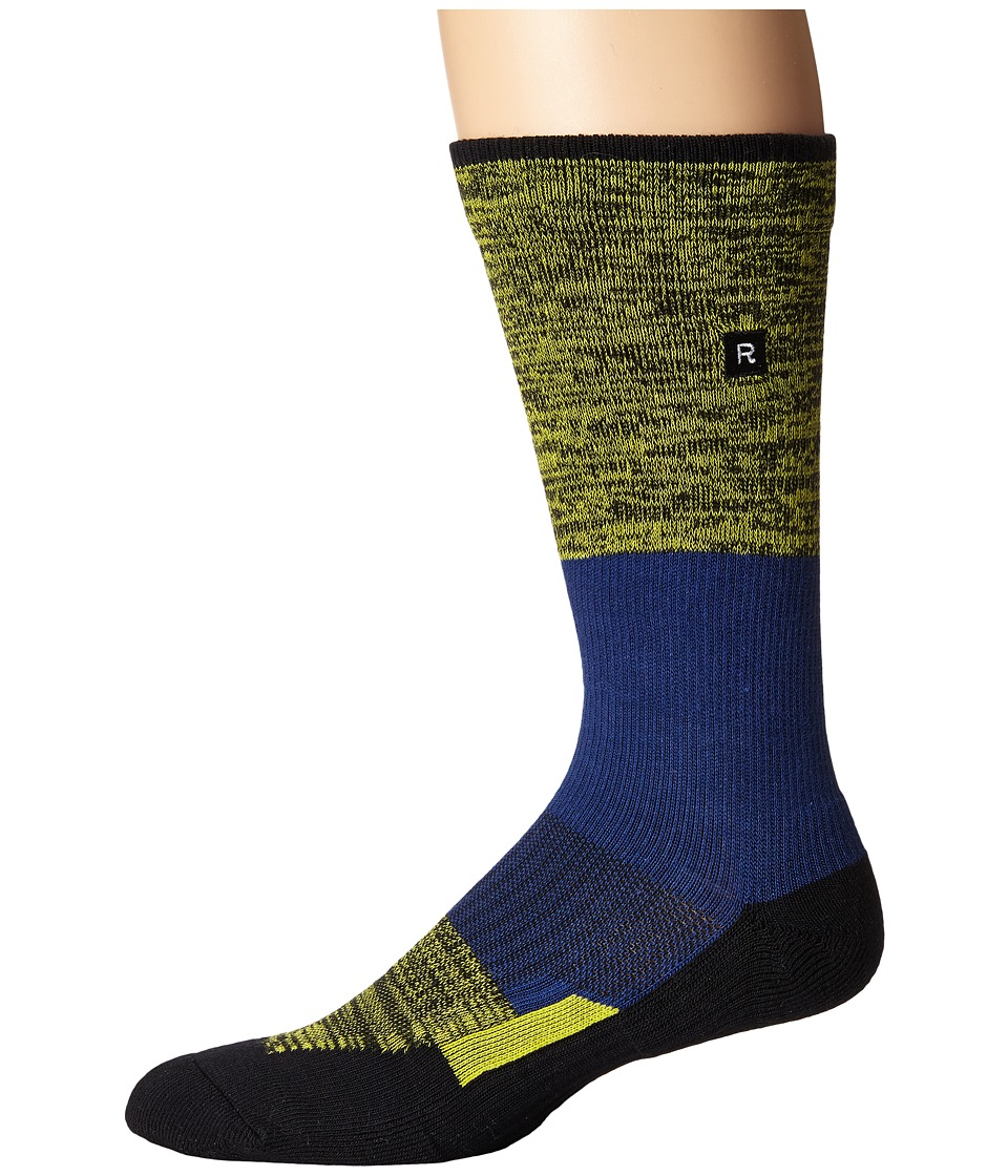 Richer Poorer - Statik Athletic (Navy) Men's Crew Cut Socks Shoes