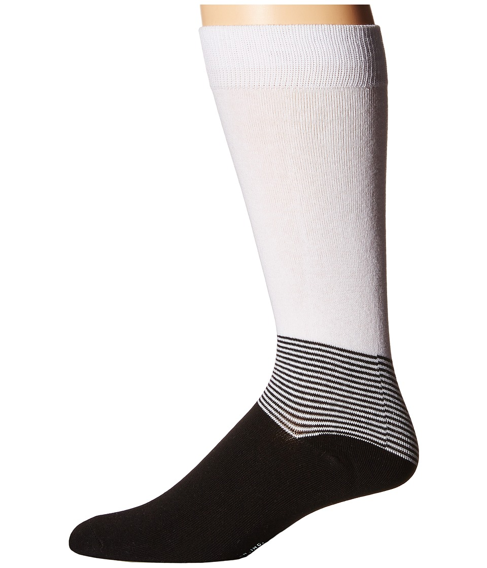 Richer Poorer - Horizon (White/Black) Men's Crew Cut Socks Shoes