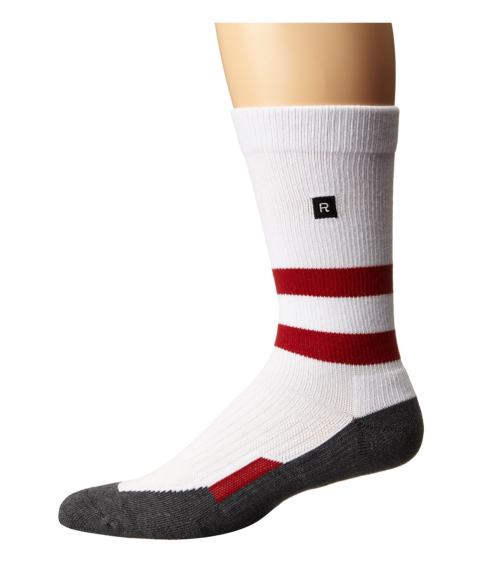 Richer Poorer - Leon Athletic (White/Red) Men's Crew Cut Socks Shoes