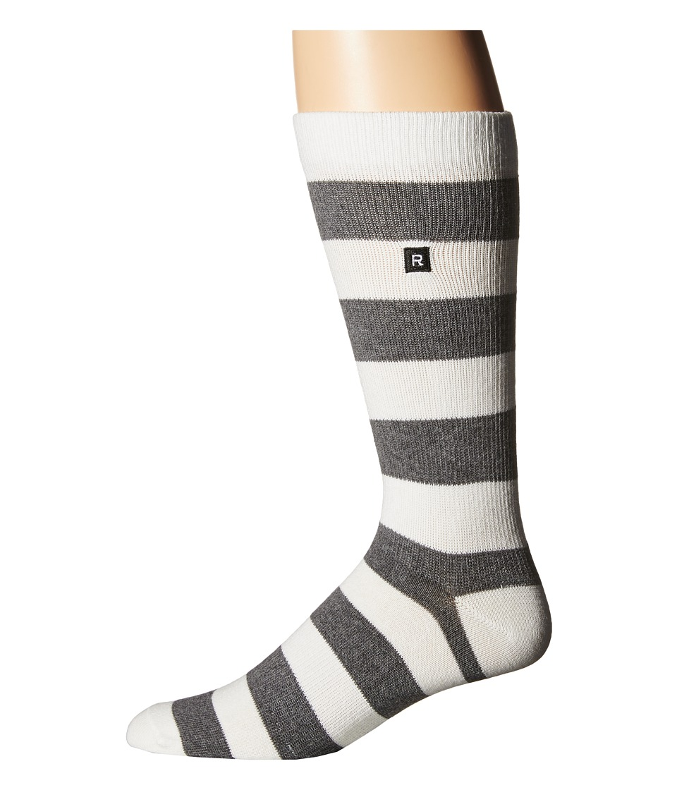 Richer Poorer - Walk On Basic Athletic (Charcoal/White) Men's Crew Cut Socks Shoes