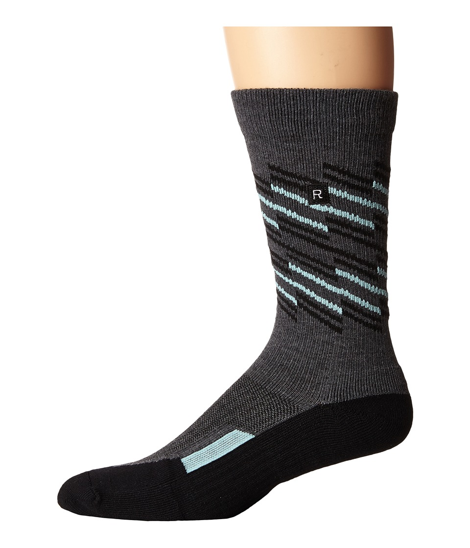 Richer Poorer - Sportif Athletic (Charcoal) Men's Crew Cut Socks Shoes