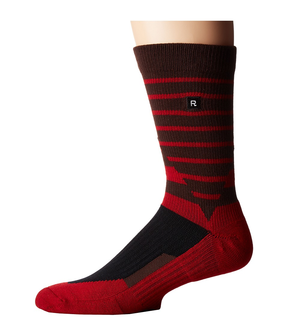 Richer Poorer - Shifter Athletic (Red) Men's Crew Cut Socks Shoes
