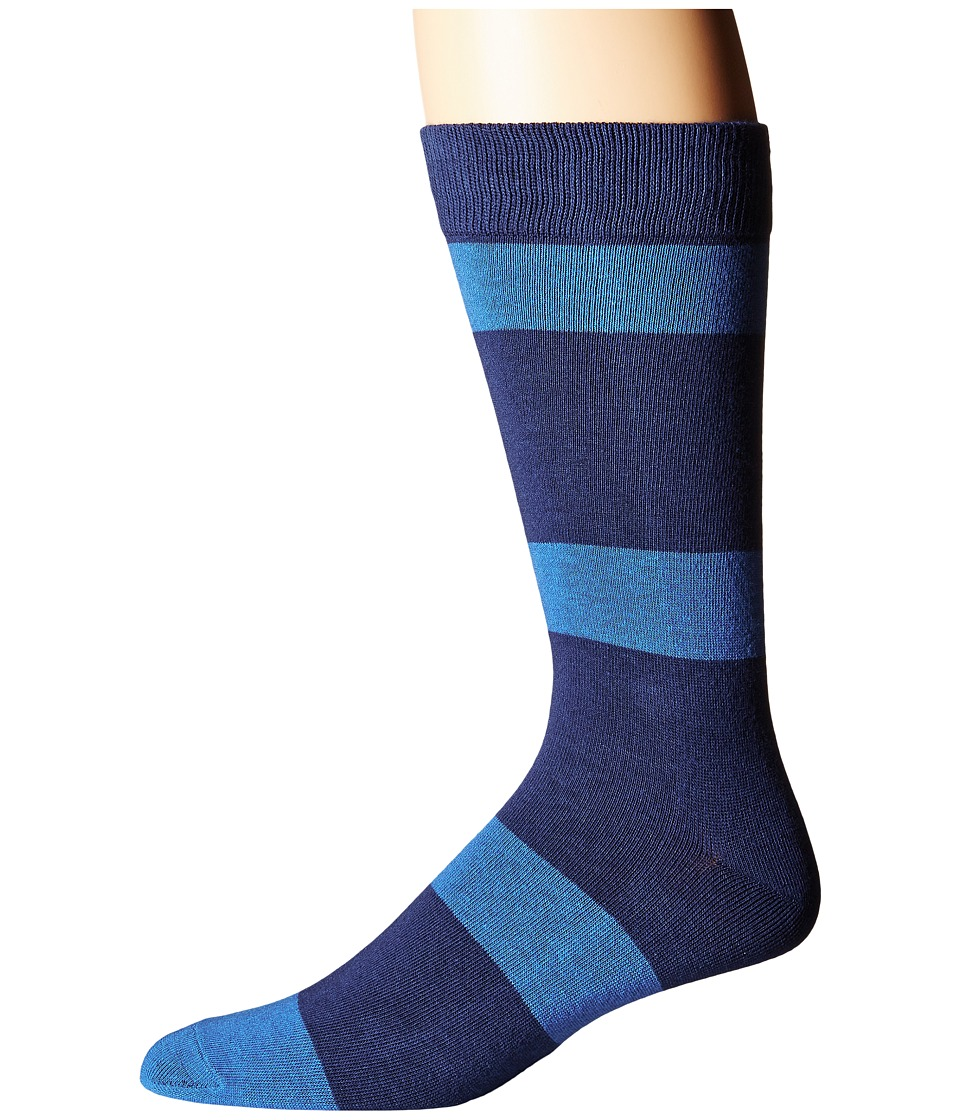 Richer Poorer - London (Navy/Blue) Men's Crew Cut Socks Shoes