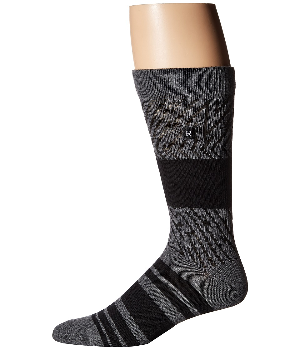 Richer Poorer - Foliage Athletic (Charcoal) Men's Crew Cut Socks Shoes