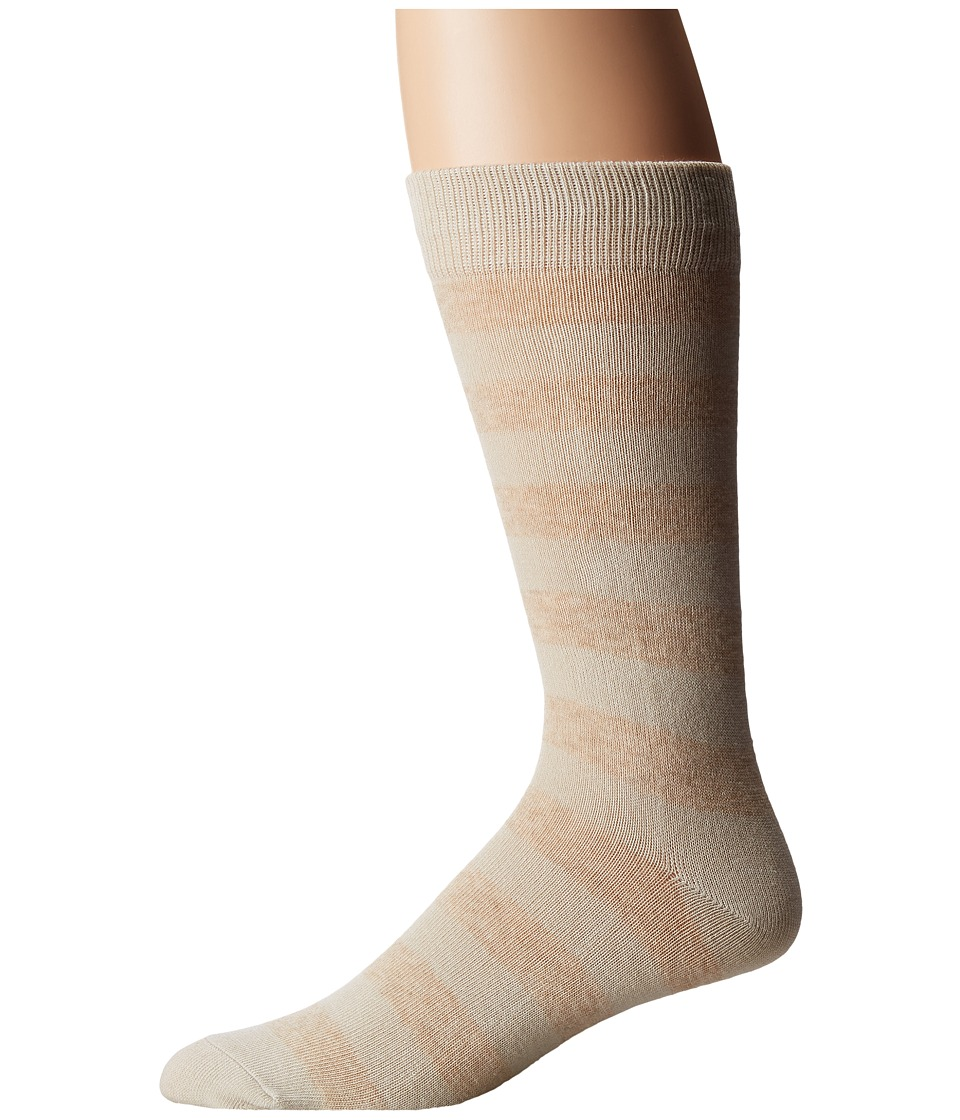 Richer Poorer - Walk On (Cream/Oatmeal) Men's Crew Cut Socks Shoes