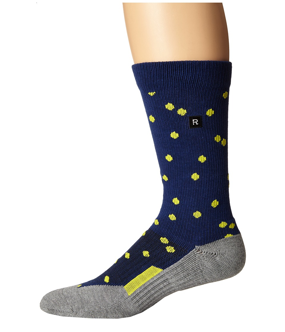 Richer Poorer - Emery Athletic (Navy) Men's Crew Cut Socks Shoes