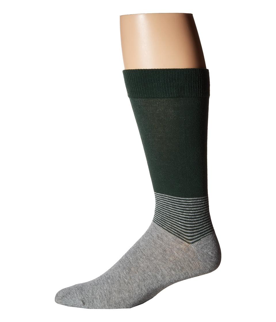 Richer Poorer - Horizon (Green/Heather Grey) Men's Crew Cut Socks Shoes