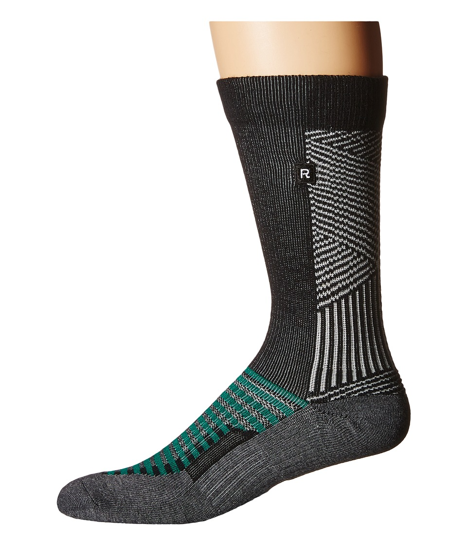 Richer Poorer - Deco Athletic (Black) Men's Crew Cut Socks Shoes