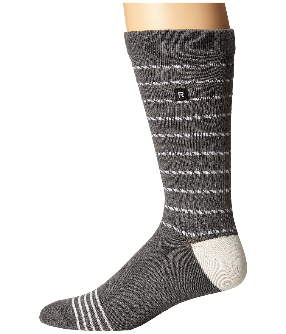 Richer Poorer - Portside Athletic (Charcoal) Men's Crew Cut Socks Shoes