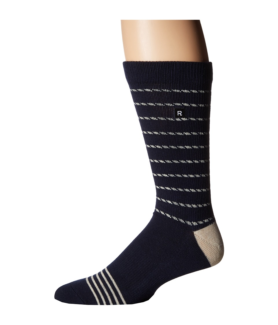 Richer Poorer - Portside Athletic (Navy) Men's Crew Cut Socks Shoes